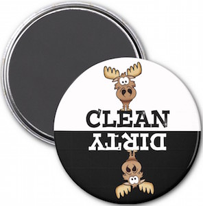 Moose Dirty Or Clean Dishwasher Magnet