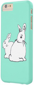 Mint Green iPhone 6 / 6s Case With White Rabbits