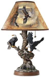 Bald Eagle Carved Statues And Art Lamp