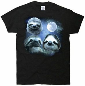 Full Moon Space Sloths T-Shirt