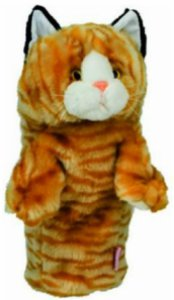 Orange Calico Cat Golf Head Cover