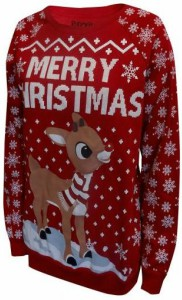 Rudolph The Red Nosed Reindeer Ugly Christmas Sweater