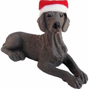 Weimaraner Santa Hat Christmas Ornament