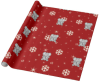 Elephant And Snowflakes Wrapping Paper