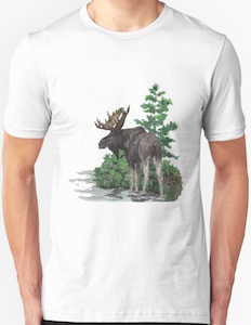 Moose In Water T-Shirt