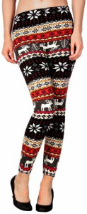 Reindeer Christmas Pattern Leggings