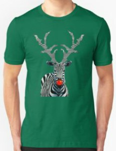 Rudolph The Red Nosed Zebra T-Shirt