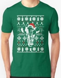Santa Elephant Christmas T-Shirt