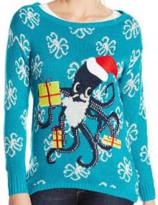 Santa Octopus Ugly Christmas Sweater