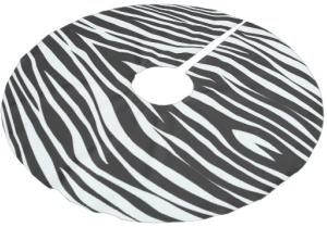 Zebra Print Tree Skirt