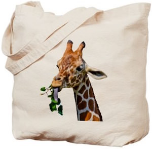 Giraffe 2 Image Tote Bag