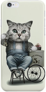 Cat Selling Ice Cream iPhone Case