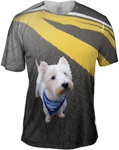 Westie On Asphalt T-Shirt