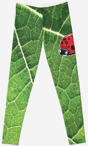 Ladybug On A Leaf Leggings