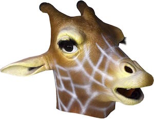 Giraffe Latex Face Mask