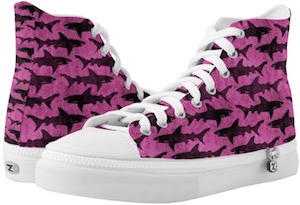 Hot Pink Shark High Top Sneakers