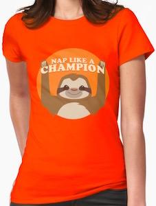 Sloth Nap Like A Champion T-Shirt
