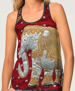 Indian Elephant Women's Tank Top
