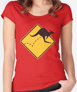 Kangaroo On The Move T-Shirt