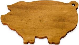 J.K. Adams Pig Shaped Cutting Board
