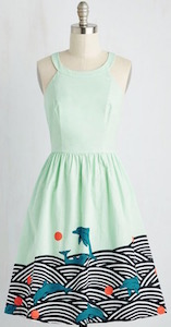Playing Dolphins Dress