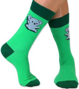 Green Koala Bear Socks