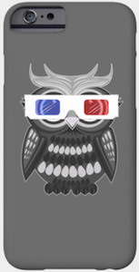 Owl With 3D Glasses Smartphone Case
