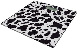 Cow Print Bathroom Scale