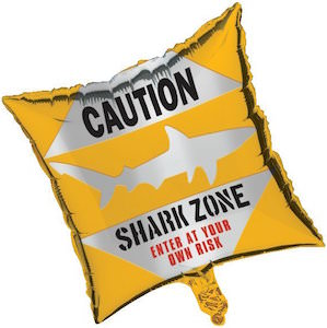 Caution Shark Zone Balloon