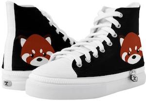 Red Panda High Top Sneakers