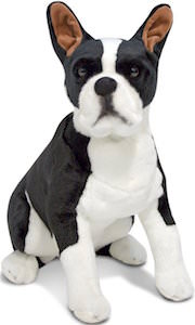 21 Inch Tall Boston Terrier Plush Animal