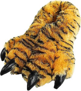 Fluffy Tiger Paw Slippers