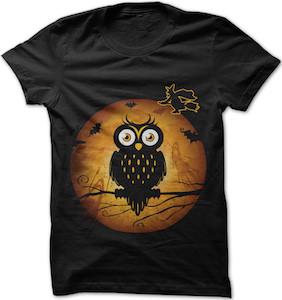 Owl On A Full Moon T-Shirt
