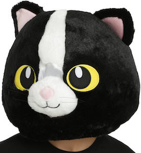 Big Black Cat Head Mask
