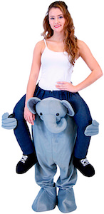 Elephant Piggyback Ride Halloween Costume