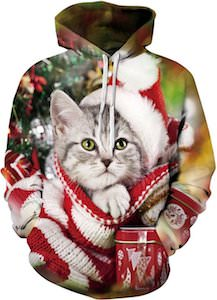 Cute Kitten Christmas Hoodie