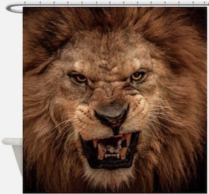 Roaring Lion Shower Curtain