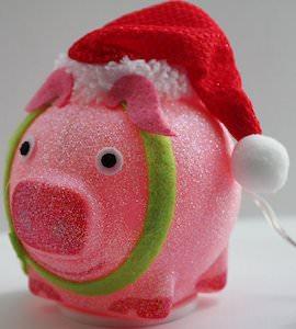 Pig Christmas Desk Light