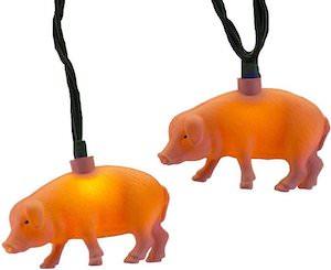 Pigs Christmas String Light