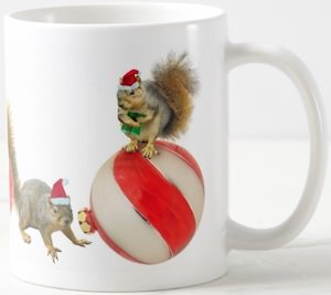Squirrels Christmas Mug