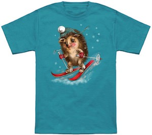 Winter Sport Hedgehog T-Shirt