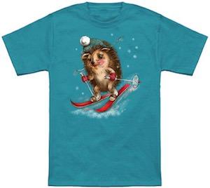 Winter Sport Hedgehog T-Shirt