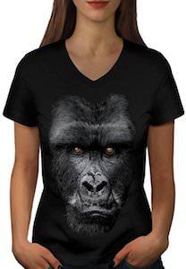 Women's Gorilla Face T-Shirt