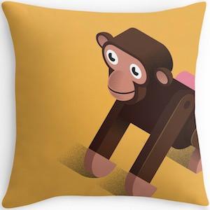 Toy Monkey Pillow