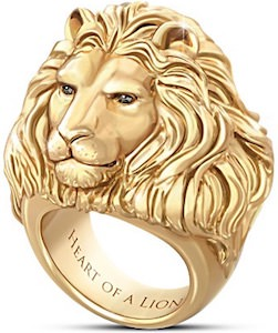 Heart Of A Lion Men's Ring