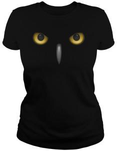Owl Eyes Glowing And Beak T-Shirt