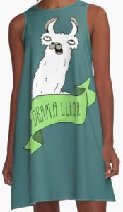 Llama Drama Llama A Line Dress