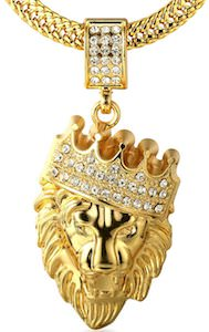 Lion King Of The Jungle Pendant And Necklace