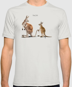 Kangaroo Being Tailed T-Shirt