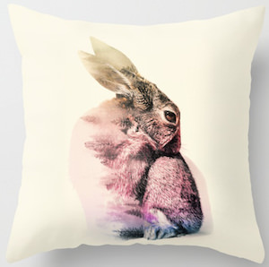 Fading Rabbit Pillow